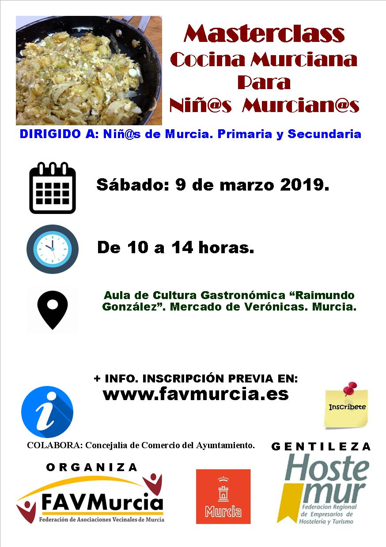 Masterclass Cocina Murciana para Niños y Niñas.