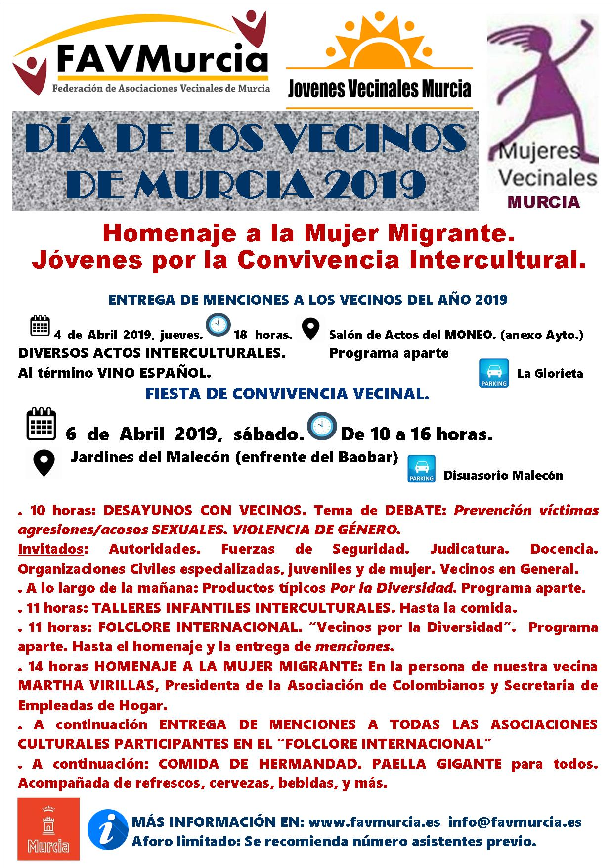 Celebración Días de Los Vecinos de Murcia 2019